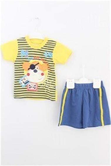 Sema Bebe Eymus Kaprili Takım 1 Erkek Çocuk Giyim Sarı